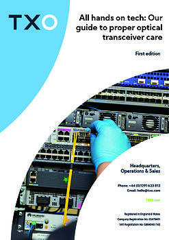 Our guide to proper optical transceiver care cover